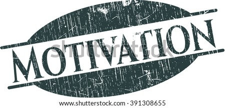 Motivation rubber stamp - stock vector
