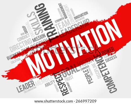 MOTIVATION word cloud, business concept - stock vector