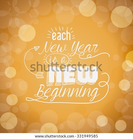 motivational message new year design, vector illustration eps10 graphic  - stock vector