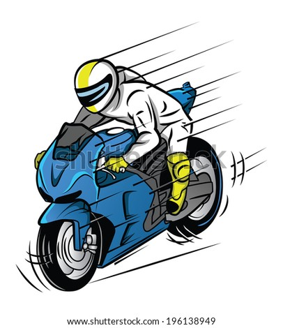 Moto Race - stock vector