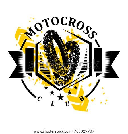 motocross logo motocross design stock vector 789029737 shutterstock rh shutterstock com motocross logo maker motocross logo png