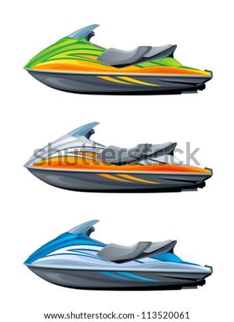 Motor boat - stock vector