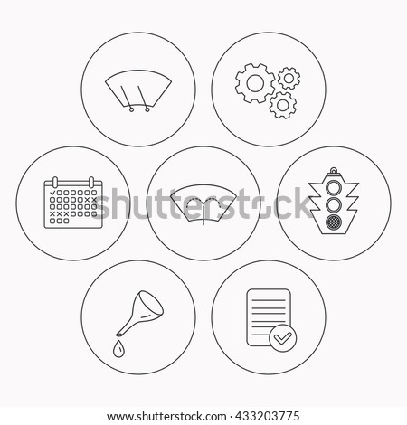 stock vector motor oil change traffic lights and wiper icons washing window windscreen wiper linear signs 433203775 strobe light control box strobe find image about wiring diagram,12v Strobe Light Wiring Diagram