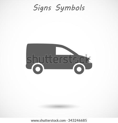 Motor Van. Vector icon EPS 10. - stock vector