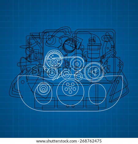 motor vehicle. Design of vector illustrations - stock vector