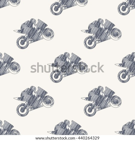 Motorbike pattern, Bikers Man illustration, image. Creative, luxury gradient color style image. Print label, banner, book, cover, card, clothes, emblem, wrap, wrapping. Hand drawn textured - stock vector