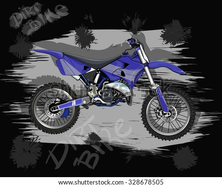 motorcycle for movement on rough terrain, and freestyle motocross - stock vector