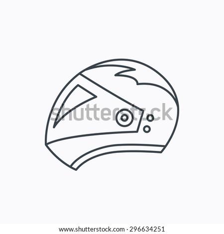 Bike Helmet Outline Motorcycle Helmet Icon Biking