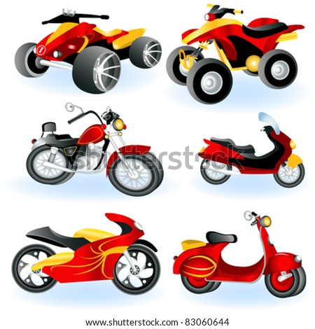 Motorcycle icons 2 - stock vector