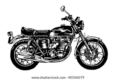 Motorcycle illustration - stock vector