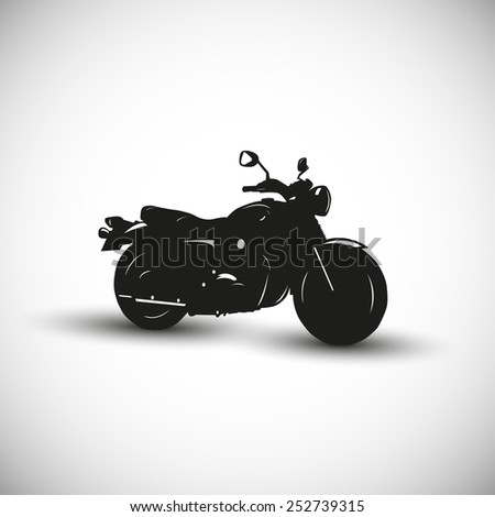 Motorcycle illustration - 3d view design. - stock vector