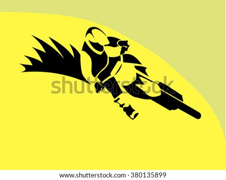 Motorcycle Rider sign - stock vector