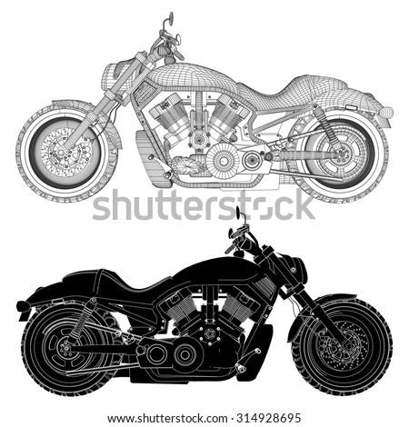 Motorcycle Vector 16 - stock vector