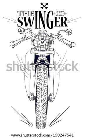 motorcycle-vector bike and fast swinger - stock vector