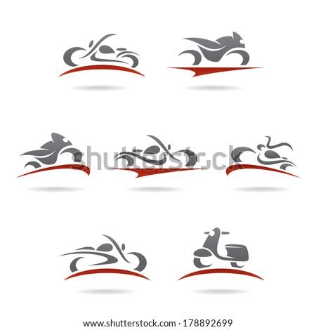 Motorcycles set. Vector  - stock vector
