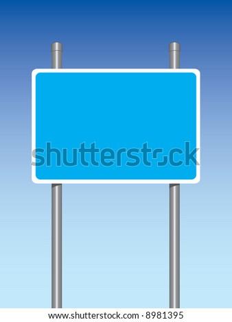 Motorway sign - stock vector