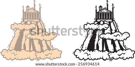 Mount olympus vector icon greek inspired stock vector for Mount olympus coloring pages