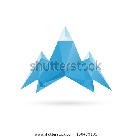 Mountain abstract isolated on a white backgrounds - stock vector