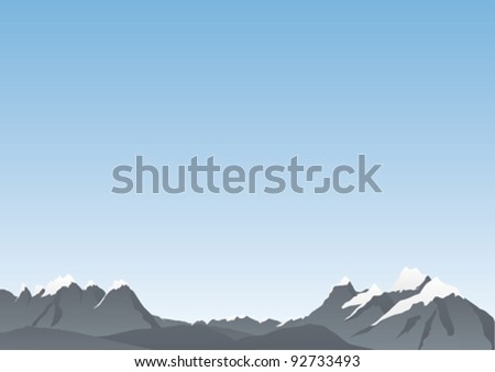 Mountain background - stock vector