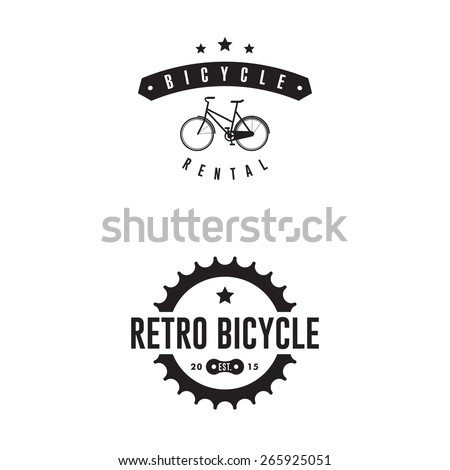 Mountain Bike Retro Badges - stock vector