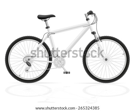 mountain bike with gear shifting vector illustration isolated on white background - stock vector