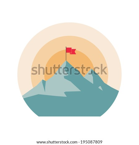 Mountain icon. - stock vector
