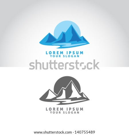Mountain Icon Vector Illustration - stock vector