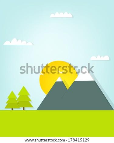 Mountain landscape - stock vector