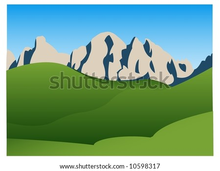 Mountain landscape background - stock vector