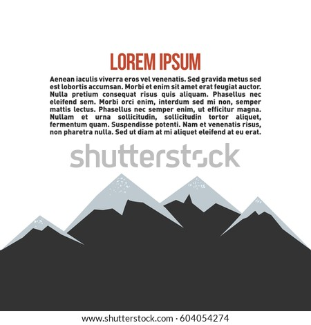Mountain Landscape Outdoor Activity Symbol Grunge Stock Vector