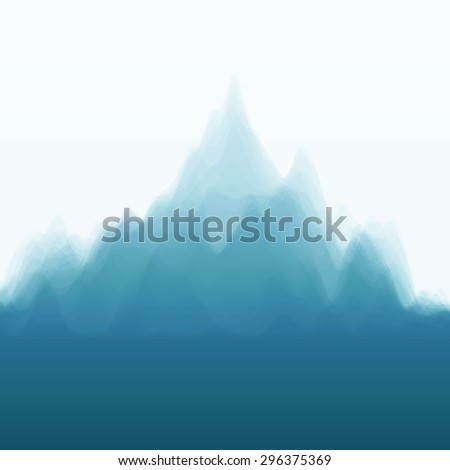 Mountain Landscape. Vector Silhouettes Of Mountains Backgrounds. Can Be Used For Banner, Flyer, Book Cover, Poster, Web Banners. - stock vector