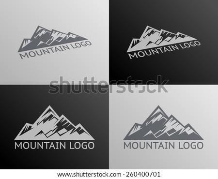 Mountain Logo Symbol Icon Isolated Vector Illustration - stock vector