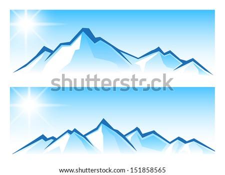 Mountain Range - stock vector