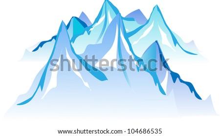 Mountain Range: Background - stock vector