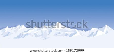 mountain range background - stock vector