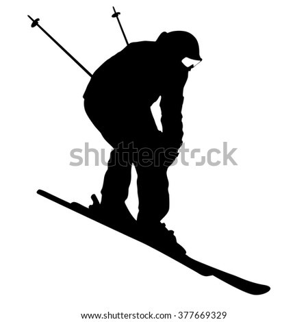 skier silhouette stock images royaltyfree images