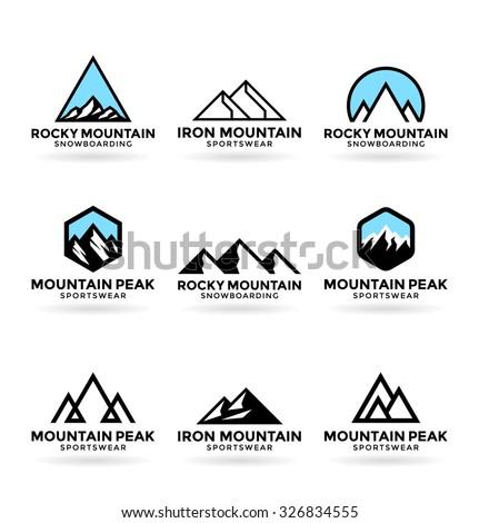 Mountains (8) - stock vector