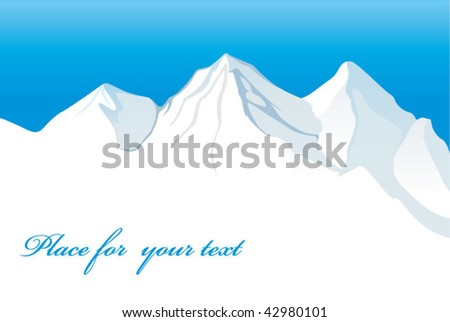 mountains - stock vector