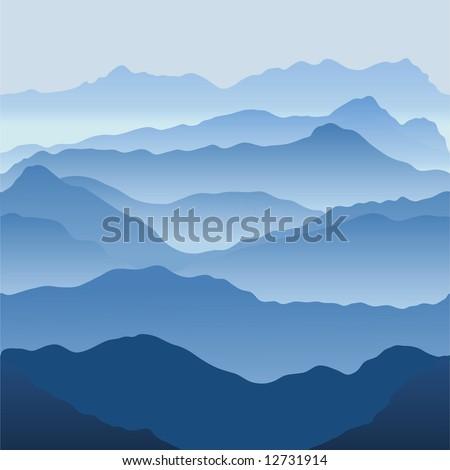 Mountains. Seamless vector illustration - stock vector