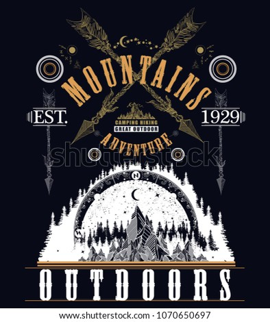 Mountains t-shirt design