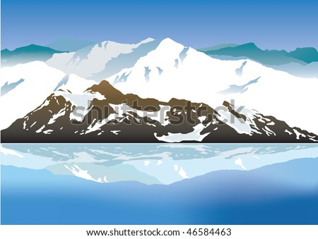Mountains. Vector illustration - stock vector