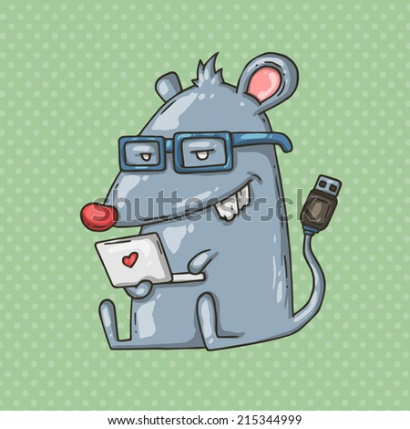mouse and notebook