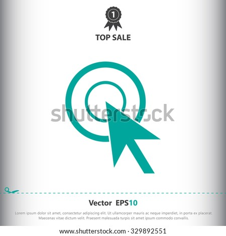 Mouse click cursor sign icon, vector illustration. Mouse click cursor symbol. Flat icon. Flat design style for web and mobile. - stock vector