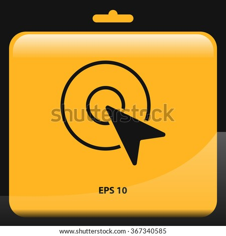 mouse cursor click arrow icon for web and mobile - stock vector