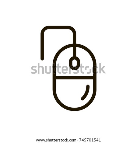 Mouse Flat Icon Single High Quality Stock Vector 745701541