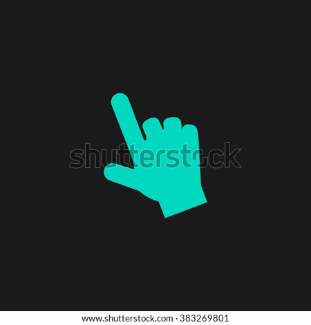 Mouse hand cursor. Flat simple modern illustration pictogram. Collection concept symbol for infographic project and logo - stock vector