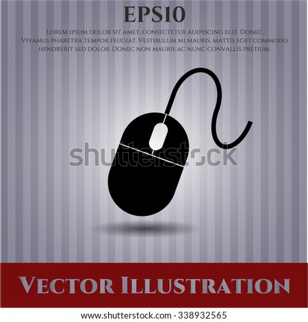 Mouse icon vector illustration - stock vector