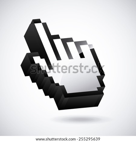mouse pointer design, vector illustration eps10 graphic