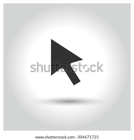 Mouse Pointer icon. web buttons. vector illustration. Flat design style - stock vector
