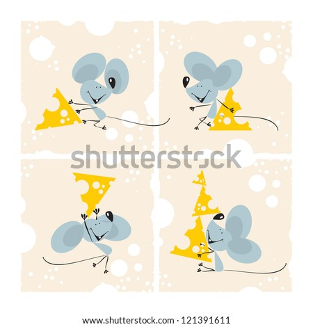 Mouse set, 1, vector